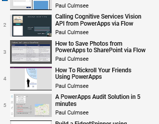 Check out our huge list of PowerApps and Flow Videos